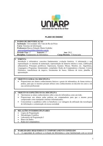 Fundamentos informática SI.pdf - Uniarp