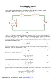 Spínání induktivní zátěže - Free Energy