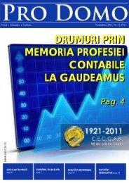Pro Domo noiembrie 2011 - C.E.C.C.A.R. – Filiala Brasov