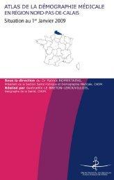 atlas de la démographie médicale - Conseil National de l'Ordre des ...