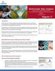 Multivariate Data Analysis Training : Malaysia - Camo