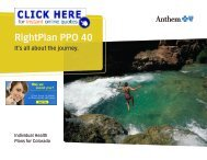 Anthem RightPlan PPO 40 Brochure - Health Insurance