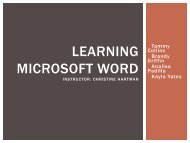 Learning Microsoft Word Instructor - Faculty Web Pages - NWACC