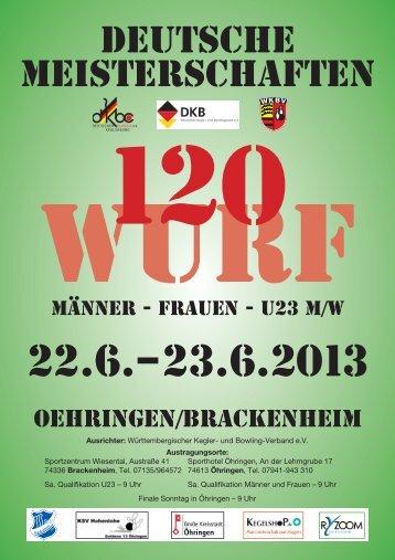 Deutsche Einzelmeisterschaft 2013 – 120 Wurf - LFV Berlin