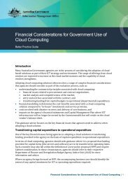 Financial Considerations for Government Use of Cloud Computing