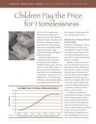 The Effects of Homelessness on Children fact sheet (.pdf)