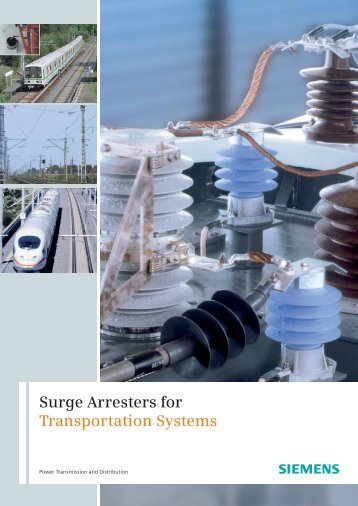 Surge Arresters for Transportation Systems - Siemens