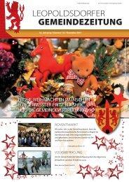 32. Jahrgang - Nr. 123 - Dezember 2012 - Marktgemeinde ...