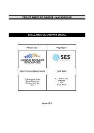 Rapport d'Évaluation de l'Impact Social - Coastal and Environmental ...