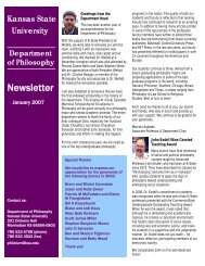 departmental newsletter - Kansas State University