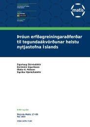 Þróun erfðagreiningaraðferðar til tegundaákvörðunar helstu ... - Matís