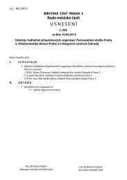Usnesení č. 393 - Praha 3