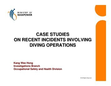 case studies on recent incidents involving diving operations