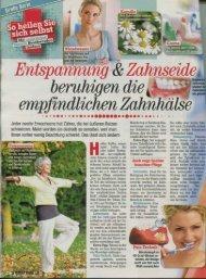 Artikel Freizeit Revue 10/2012.pdf - Praxis für Zahnmedizin Dr ...
