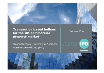 Transaction based indices for the UK commercial property market ...