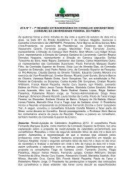 Ata 7ª Reunião Extraordinária do CONSUNI - Reitoria - Unipampa