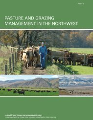 Pasture and Grazing Management in the Northwest - College of ...