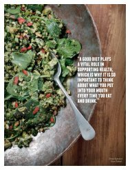 a good diet plays a vital role in supporting health ... - The Healthy Chef