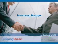 Investment Manager - Binary Stream