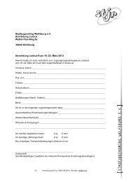 Vorlage Kursanmeldung - STADTJUGENDRING WOLFSBURG EV