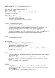 Referat fra OSI Fjell sitt styremøte 18.12.06