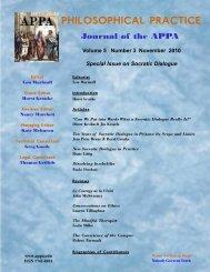 Volume 5 Number 3 November 2010 - American Philosophical ...