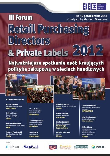 Forum Retail Purchasing Directors & Private Labels 2012