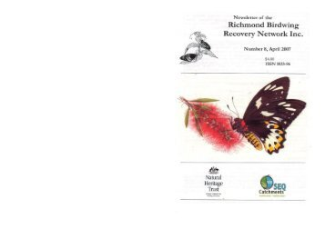 Newsletter - Richmond Birdwing Conservation Network