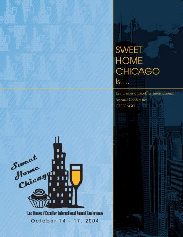 SWEET HOME CHICAGO - Les Dames d'Escoffier International