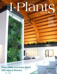Green Walls and Green Roofs eFIG Award Winners April 2012