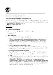 Referat af bestyrelsesmøde 07.10.2011 - Dansk Münsterländer Klub