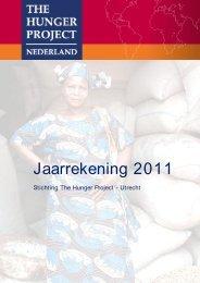 Voorbeeld Financieel verslag 2008 - The Hunger Project