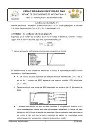 Resolver a actividade 2 da página 7, os exercícios 4 a) e c), 5 b) e c), 6