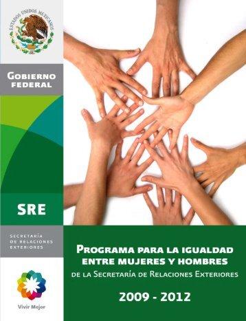 Programa para la igualdad entre Mujeres y Hombres 2009-2012