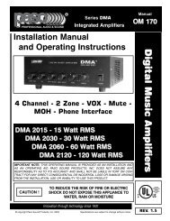 digital music amplifiers - Paso Sound Products