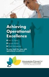 Achieving Operational Excellence - Johnson County Community ...