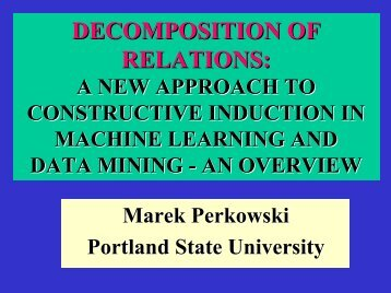 DECOMPOSITION OF RELATIONS: - Portland State University