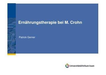 Ernährungstherapie bei M Crohn, interne Fortbildung 2012 - Kinder ...