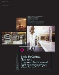 High-end fashion retail lighting design project