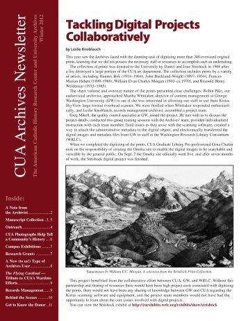 Winter 2012 - University Archives - Catholic University of America