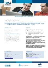 Organisaation toiminta kehittämisen kohteena - Lahden ...