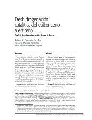 Deshidrogenación catalítica del etilbenceno a estireno