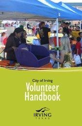 Volunteer Handbook - City of Irving, Texas