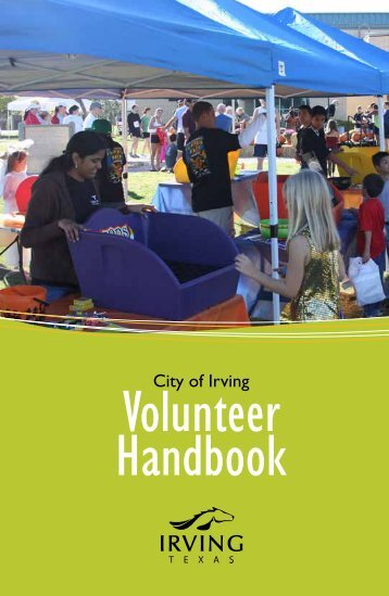 Volunteer Handbook - City of Irving, Texas