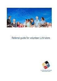 Referral Guide for Volunteer tutors - Community Services & Health ...