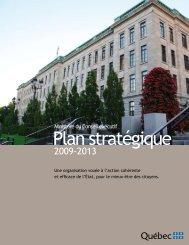 Le plan stratégique 2009-2013 - Conseil exécutif - Gouvernement ...