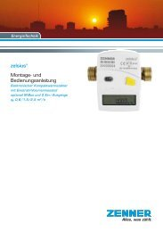 zelsius® Montage- und Bedienungsanleitung - Zenner