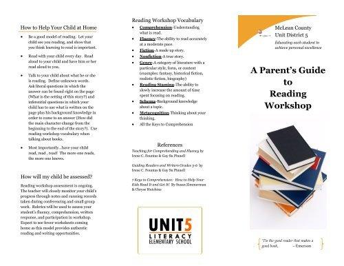 A Parent S Guide To Reading Workshop Unit 5