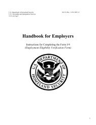 Handbook for Employers: Instructions for Completing the Form I-9