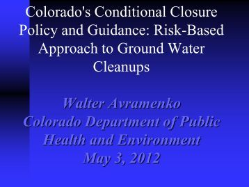 Walter's presentation (PDF) - State Coalition for Remediation of ...